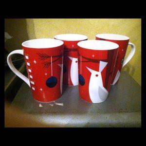 Starbucks mugs, set of 4, 12 oz
